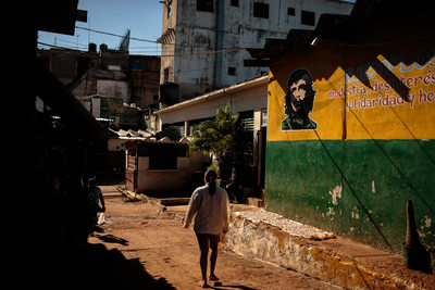 Che Guevara on the City Walls of Havana