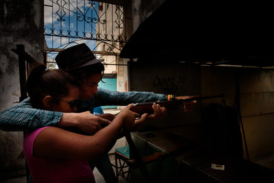 Shooting Alley on Havana Side Street