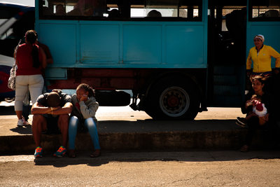 Waiting at the Train Station in Cuba