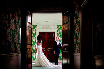 first look wedding at the greenbrier