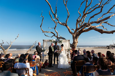 jekyll island beach wedding
