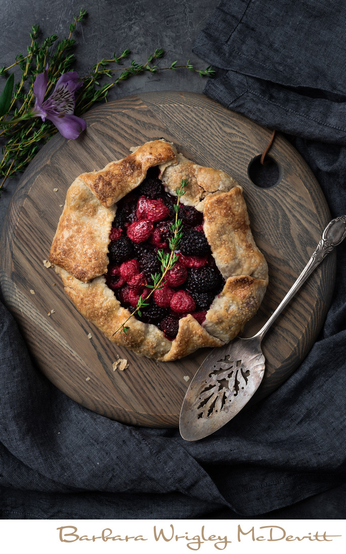 Raspberry Blackberry Galette