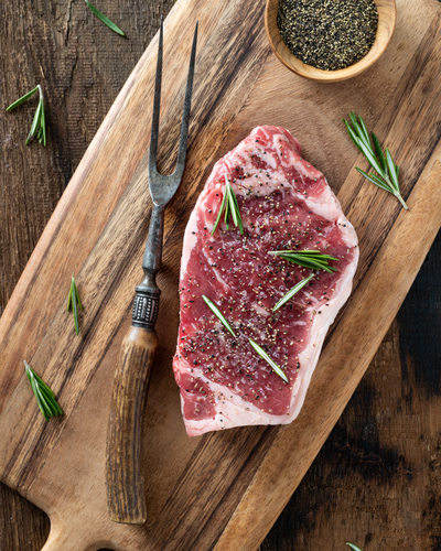 Strip Steak with Rosemary