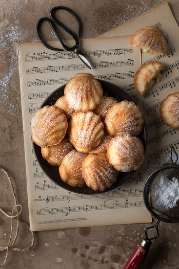 Minneapolis Food Photographer Lemon Zest Madeleines