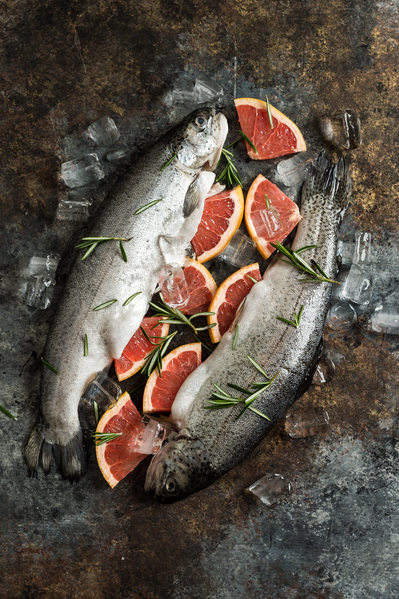 Trout with Grapefruit and Rosemary