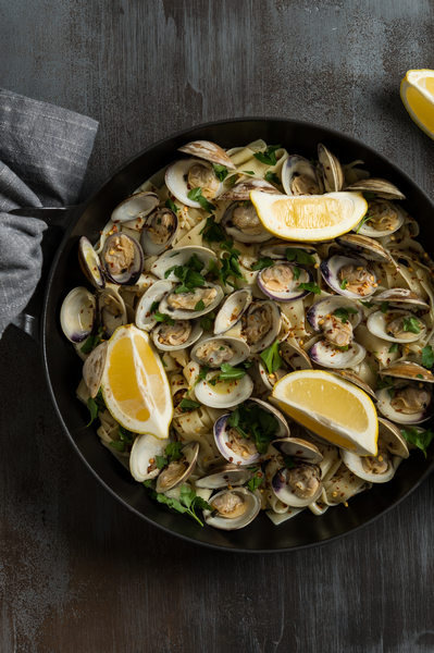Baby Little Neck Clams with Linguini
