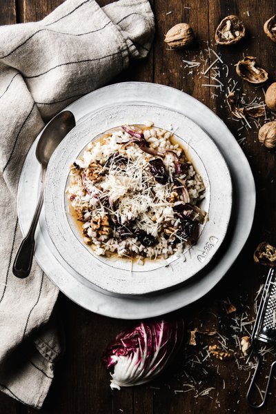 Risotto with radicchio and walnuts