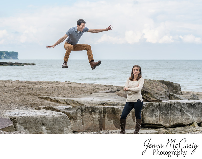 Fun Engagement Session in Bay Village, Ohio