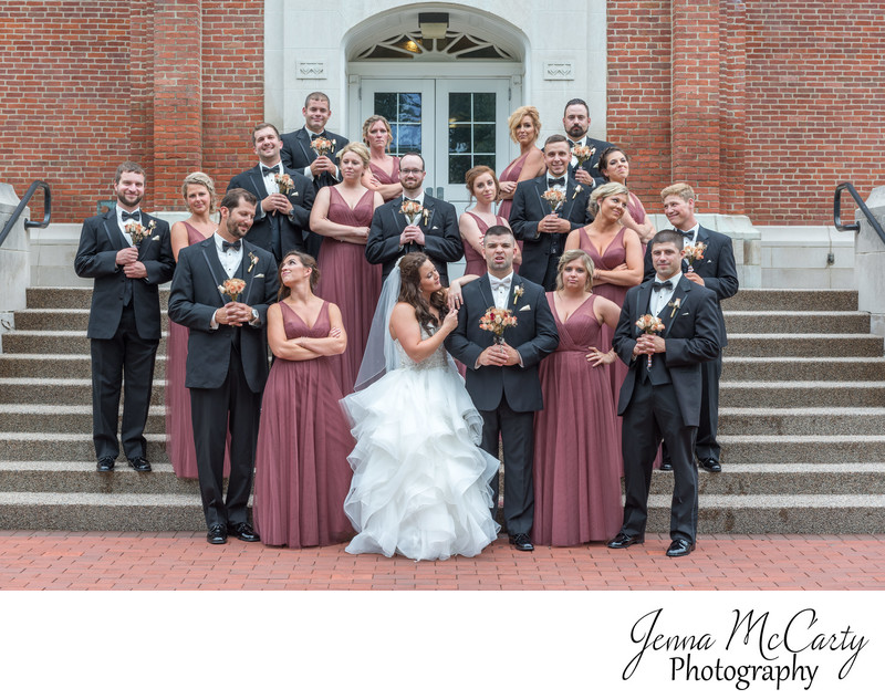 Bridal Party at the University of Mount Union in Ohio
