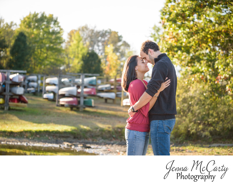 fall engagement session in Hudson springs park