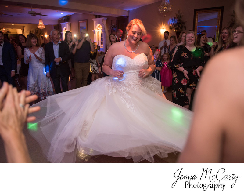 Bride Dancing at Perry Heights Party Center in Ohio