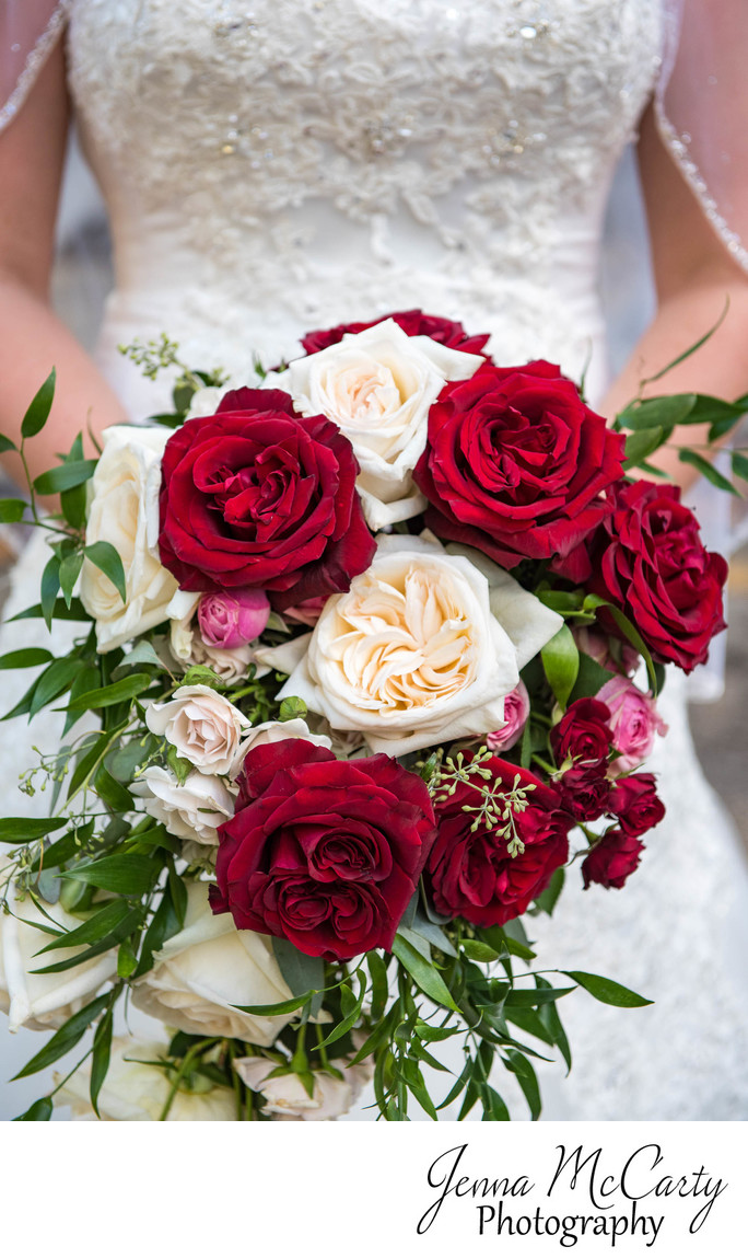 Red And White Bridal Bouquet In Youngstown Ohio Jenna Mccarty
