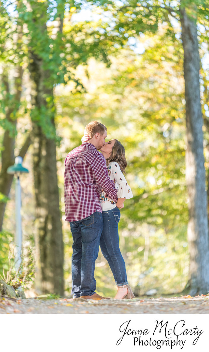 Fall Engagement Session in Woods in Grove City
