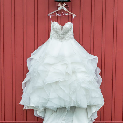 Bridal Gown Hanging in Carrollton, Ohio
