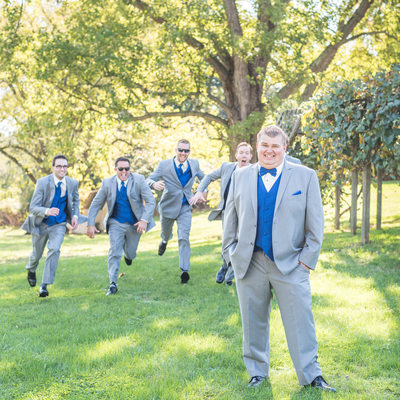 Groomsmen sneak attacking the groom in Canton, Ohio