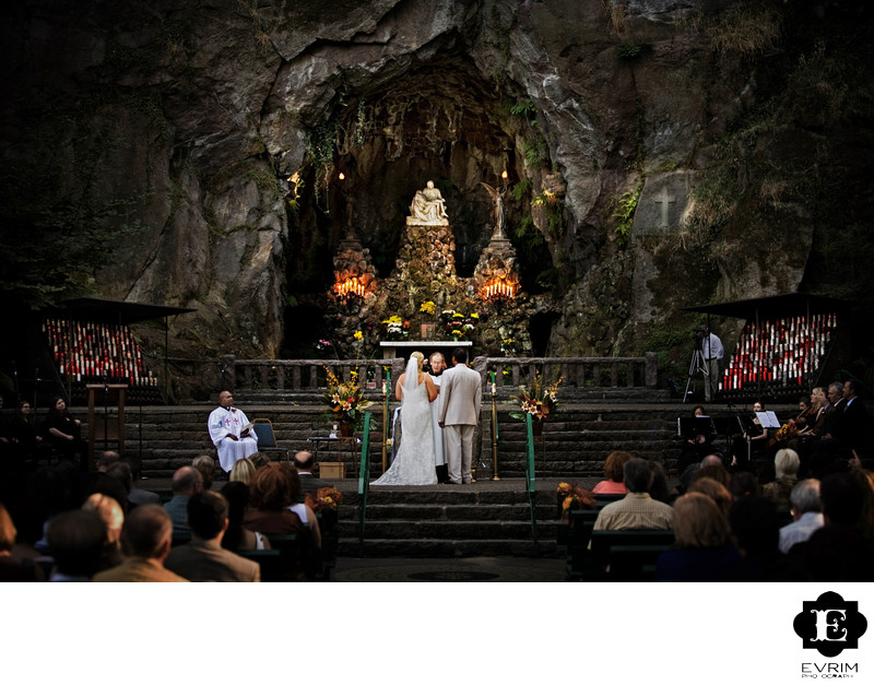 The Grotto in Portland Wedding Ceremony