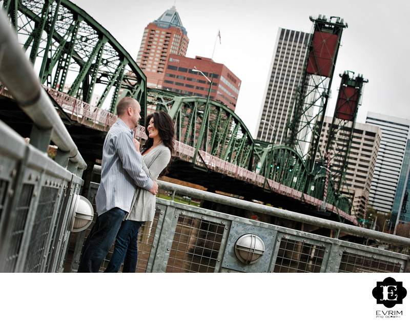 Eastbank Esplanade Portland Engagement Picture