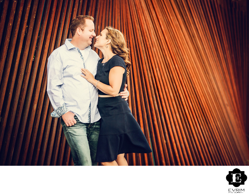 Tanner Springs Park Engagement Picture