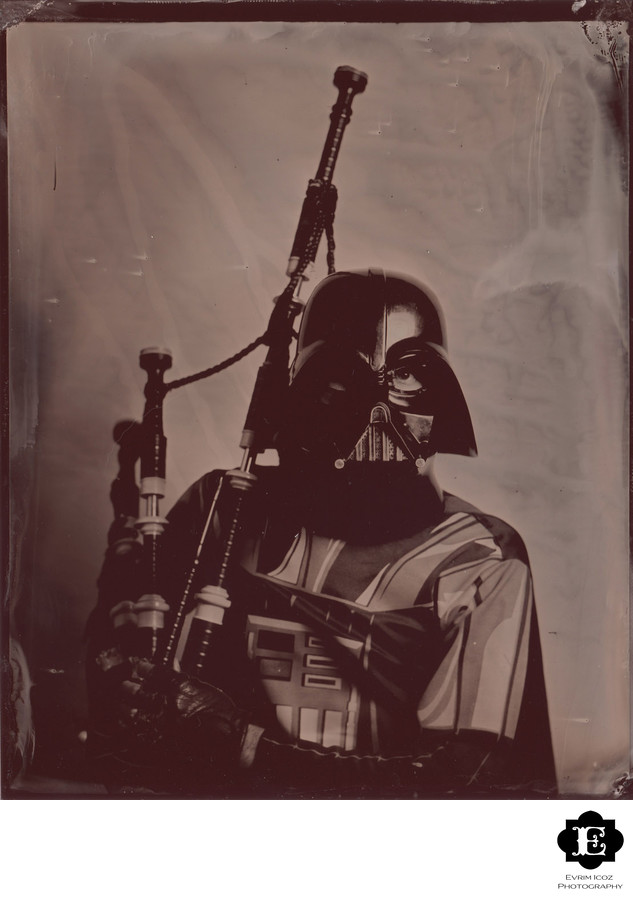Portland Tintype of The Unipiper