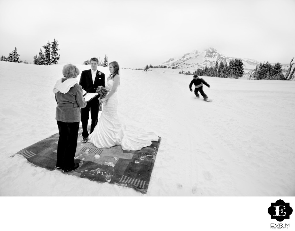 Snow Wedding Ceremony Mt Hood