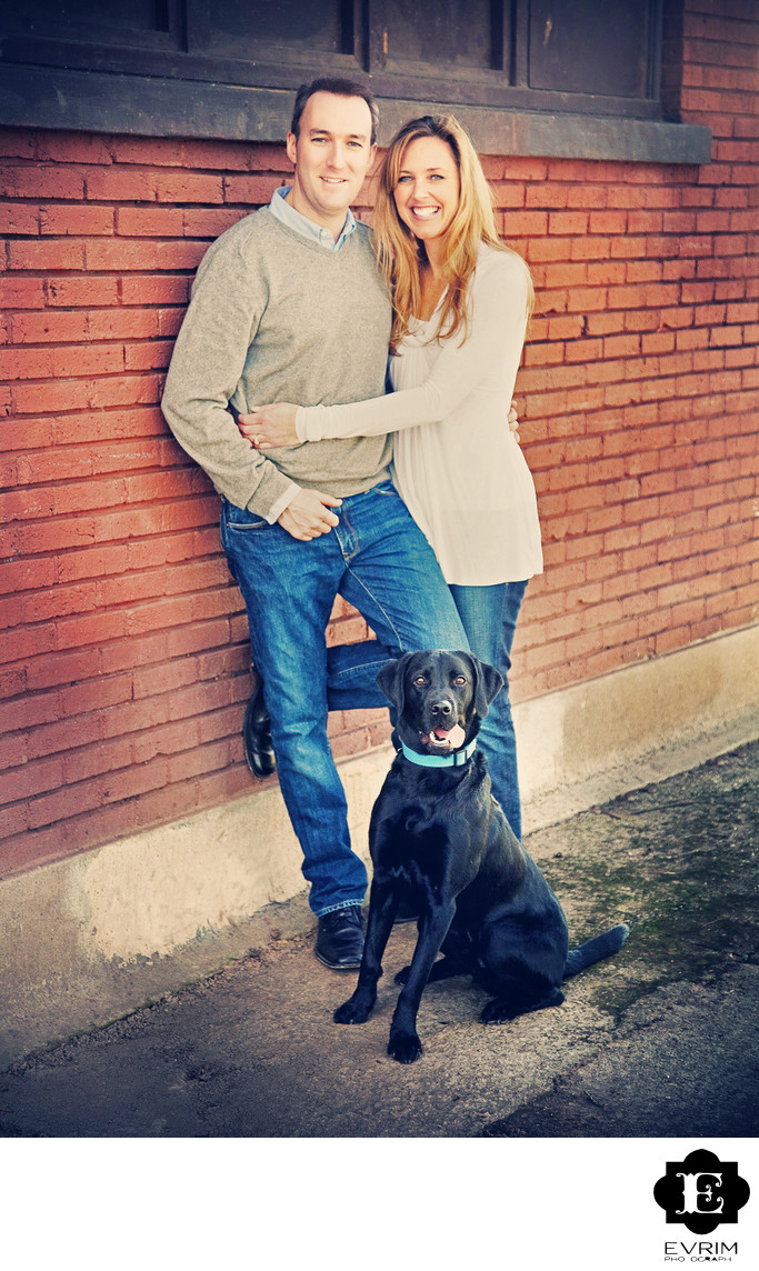 Portland Engagement Picture with Dog