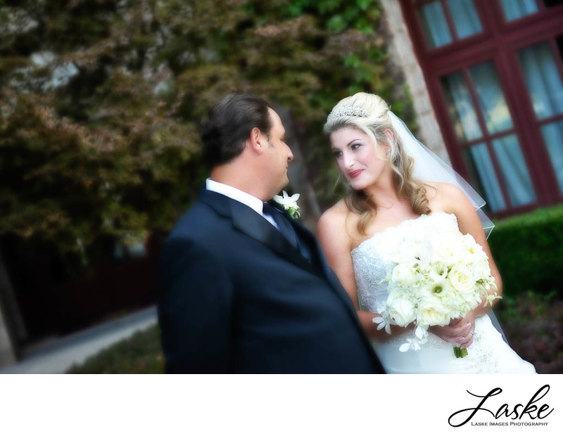 Bride sees her groom at Gaillardia Country Club