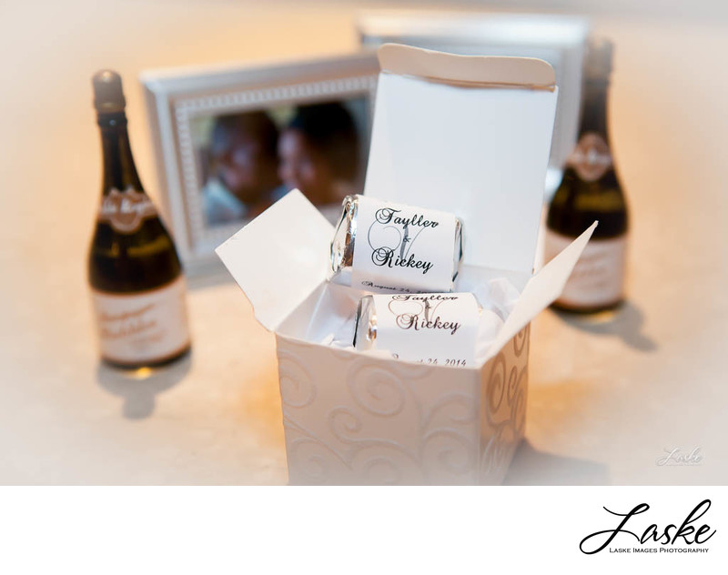 Wedding Gift Of Chocolate And Champagne Bubbles For Guests