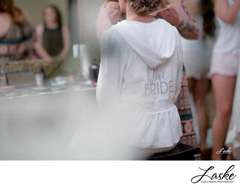 Bride's Wedding Day Hoodie Getting Ready