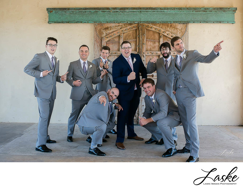 Groom and Groomsmen Crazy Pictures by OKC Wedding Photographers