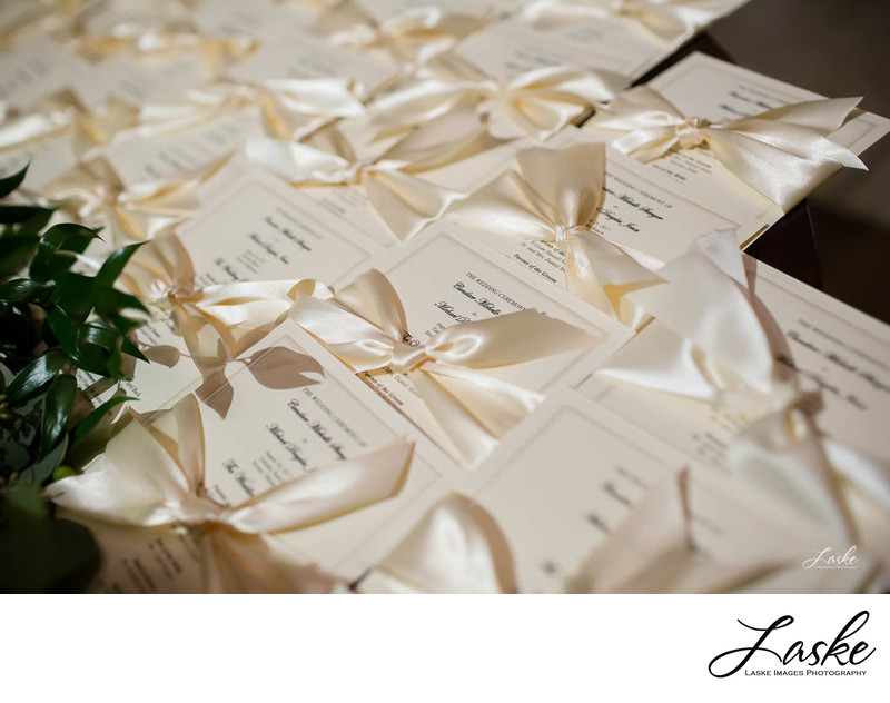 Ribbon-Wrapped Wedding Ceremony Schedule of Events