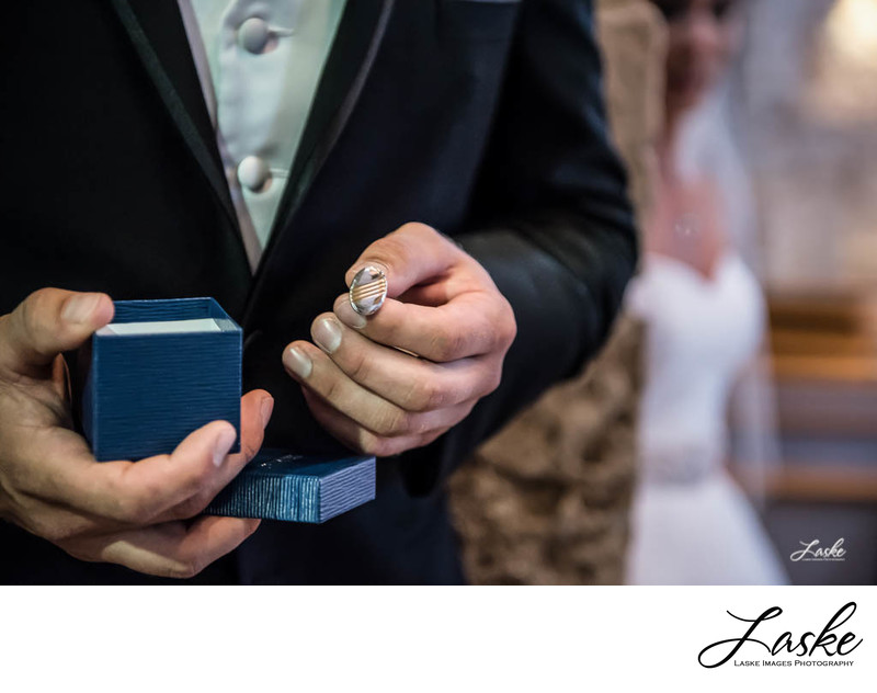 Groom Opens Gift From Bride to Find Cufflinks on Wedding Day
