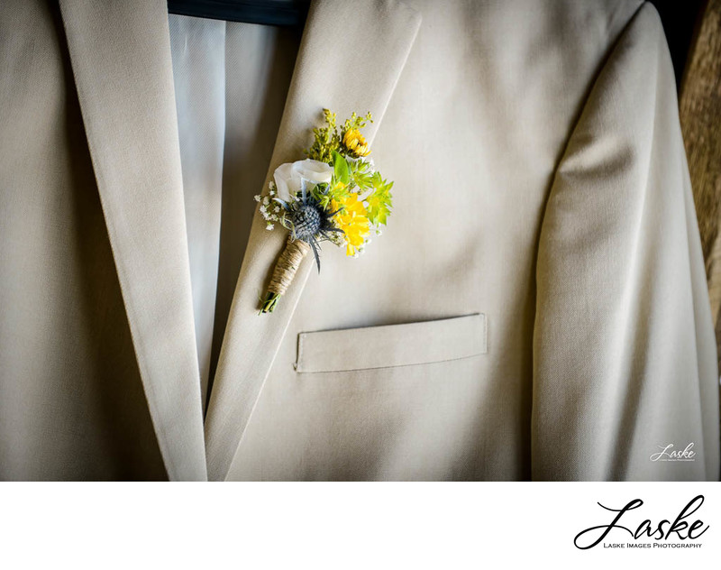 Groom's Tux with Flowers