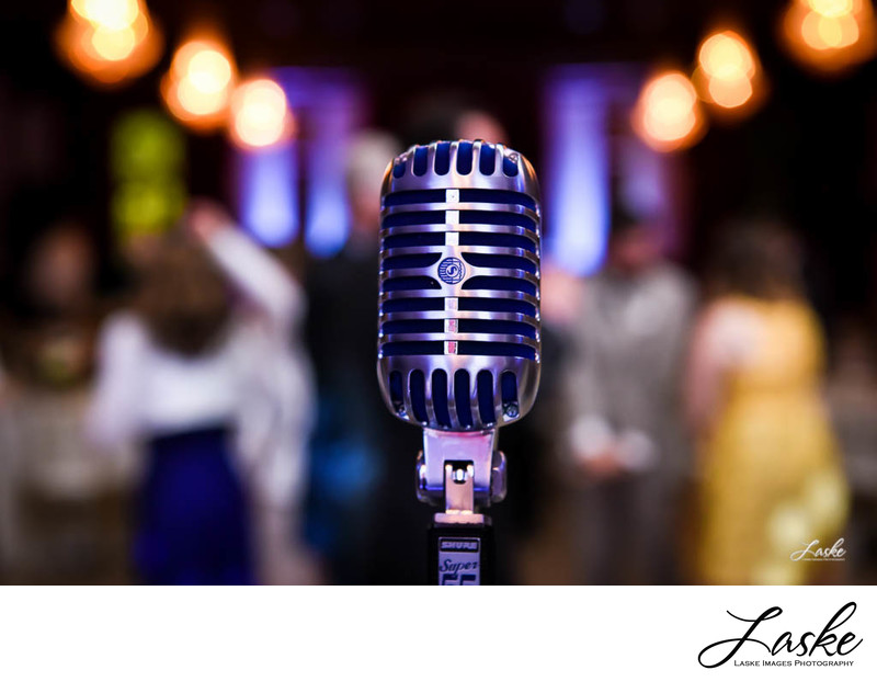 DJ Microphone at Wedding Reception