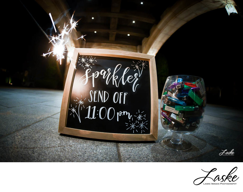 Wedding Sign For Sparkler Send Off