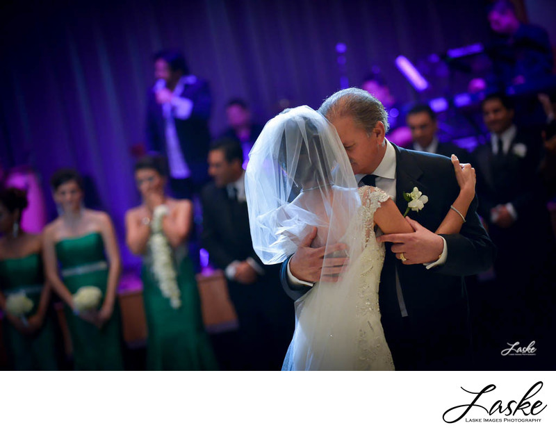 Bride and Her Father Dance During the Wedding Reception