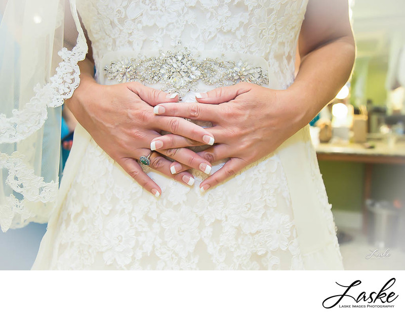 Close Up of the Bride's Hands