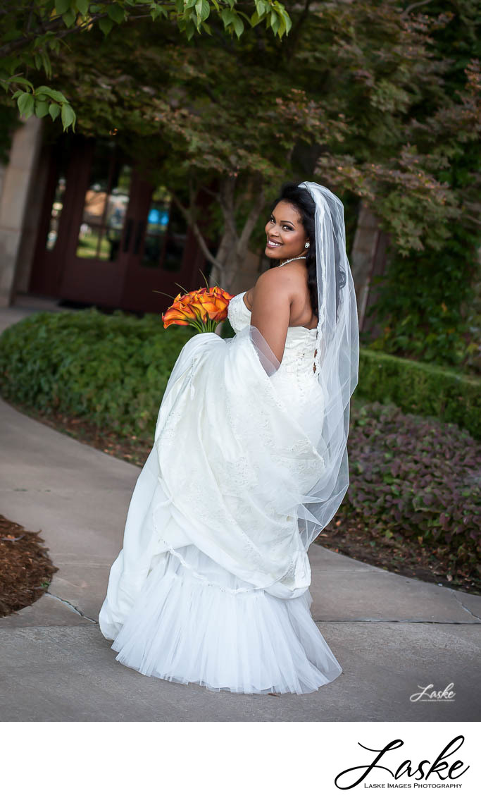 Bridal Portait Outside Gaillardia Country Club