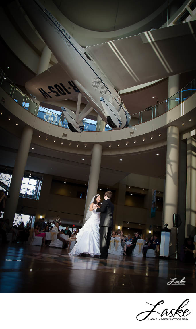 Bride and Groom First Dance Oklahoma History Center