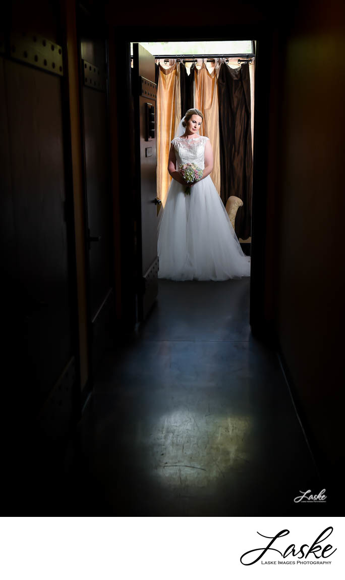 Bridal Portrait shot down Long Hall