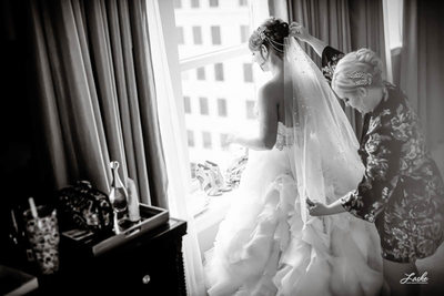 Bride Getting Ready at Skirvin Hotel