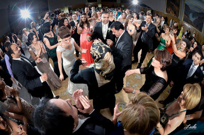 Bride Groom and Guests Dance at this Persian Wedding