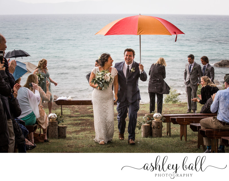 Rainy Day Wedding Ceremony At Lake Tahoe, CA