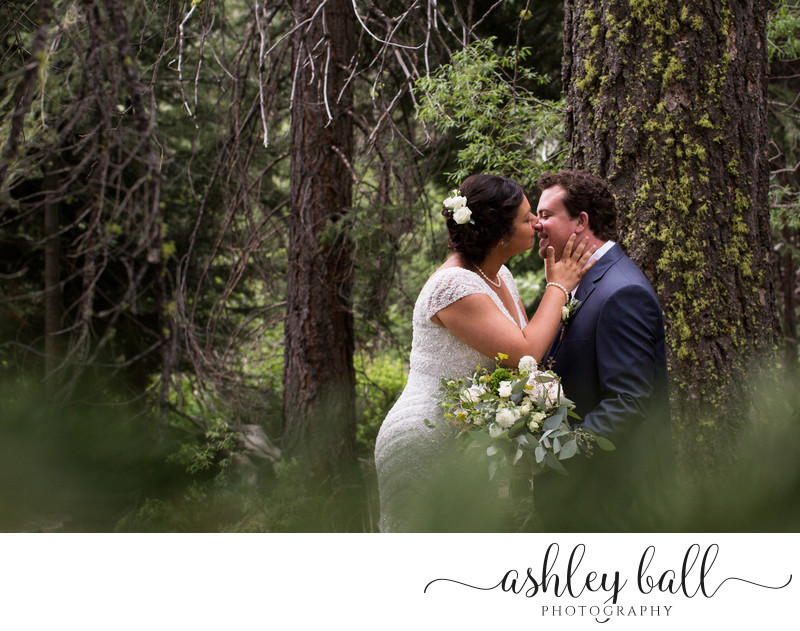 Lake Tahoe Couple's Romantic First Look Photos In The Woods