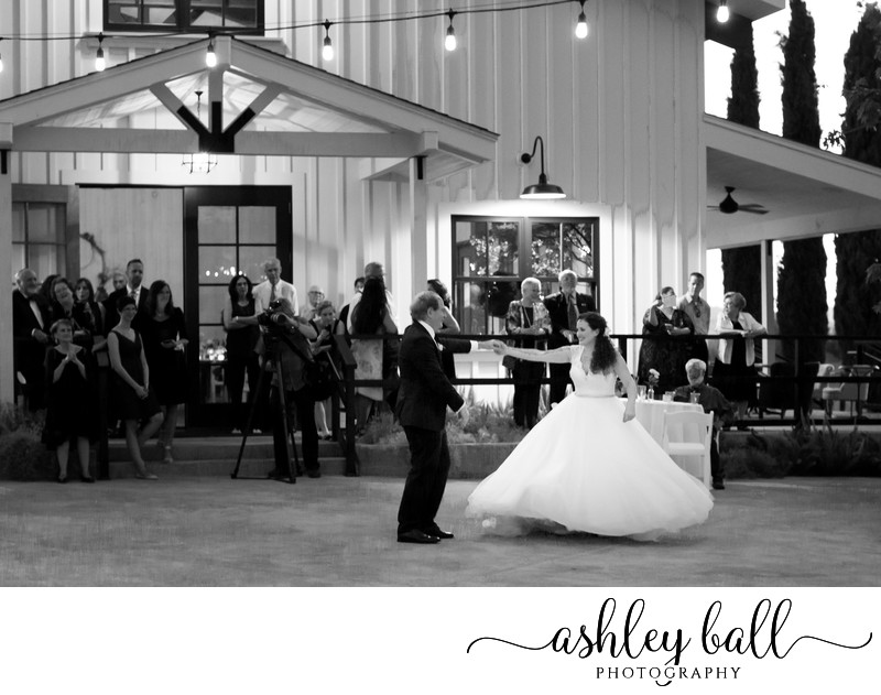 Father-Daughter Dance at Park Winters Wedding Venue