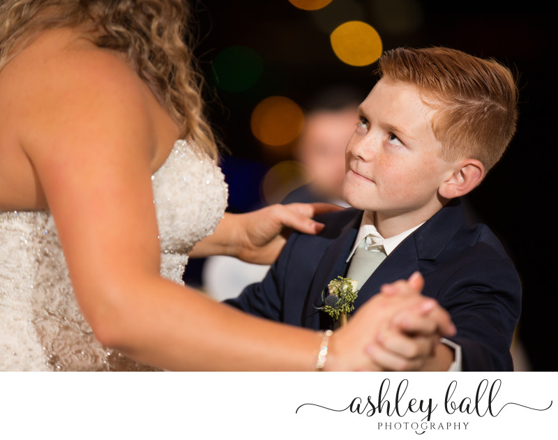 Bride and Son Dancing Photo at Scotts Seafood Sacramento