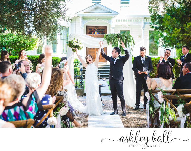 Candid wedding ceremony pictures at Joyful Ranch Venue