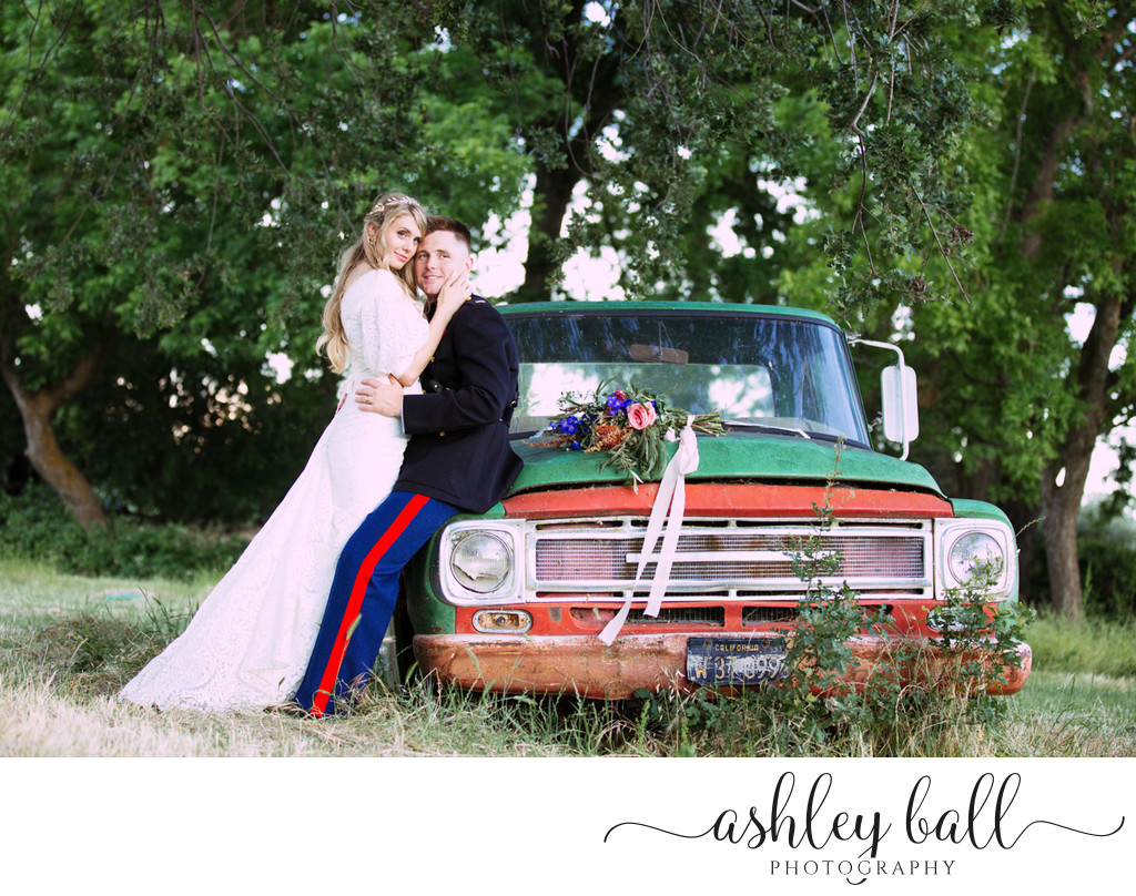 Bride and groom portraits at Soul Food Farm in Vacaville