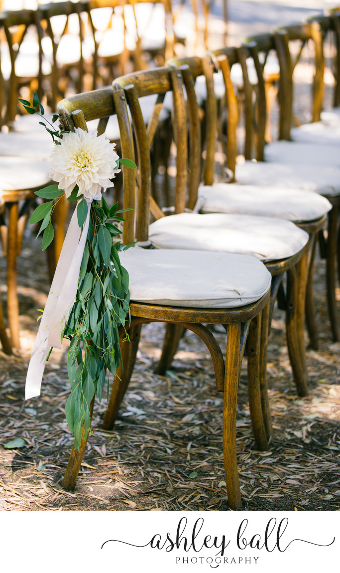 Rustic wedding ceremony at Joyful Ranch in Vacaville
