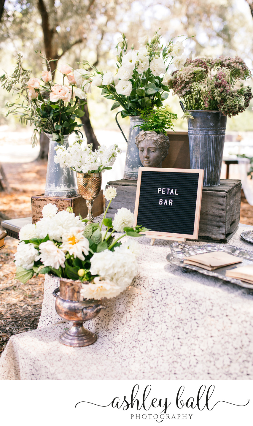 Petal bar at Joyful Ranch in Vacaville, California
