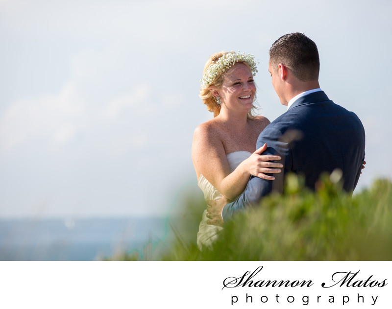 Wedding ceremony at Beavertail State Park